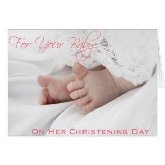 Cartes de baptême/baptême pour le bébé