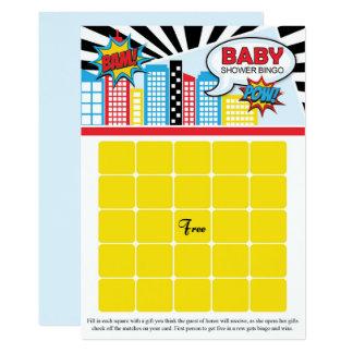 Cartes de bingo-test de baby shower de super héros carton d'invitation  12,7 cm x 17,78 cm