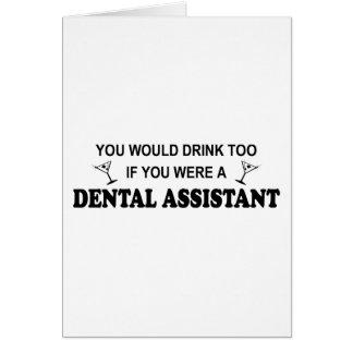 Cartes De boissons assistant dentaire trop -