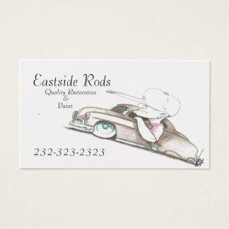 Cartes de carte de commerce de l'automobile de