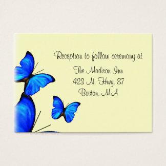 Cartes de clôture de mariage de papillon