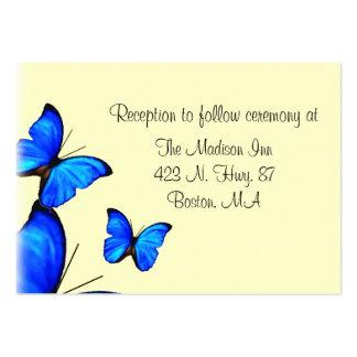 Cartes de clôture de mariage de papillon carte de visite grand format