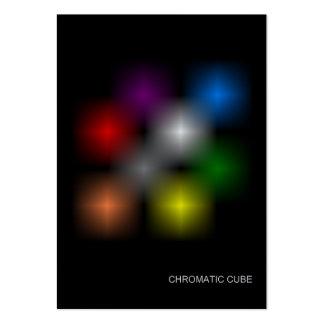 Cartes de collection chromatiques de cube carte de visite grand format