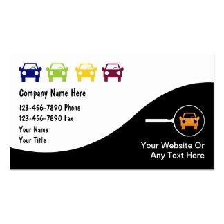 Cartes de commerce de l automobile modèles de cartes de visite