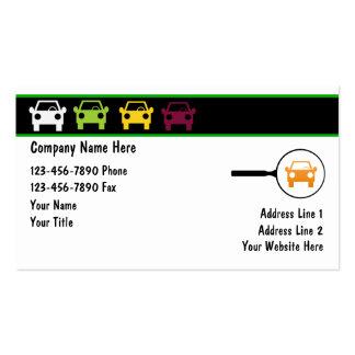 Cartes de commerce de l'automobile cartes de visite personnelles