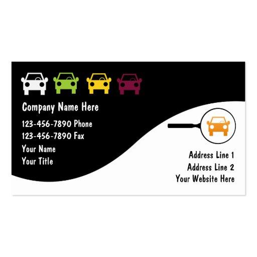Cartes de commerce de l'automobile cartes de visite professionnelles