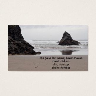 Cartes de contact de Chambre de plage