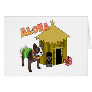 Cartes de danse polynésienne d'Hawaï Tiki de