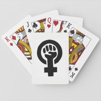 Cartes de droits de la femme cartes à jouer