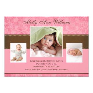 Cartes de faire-part de bébé