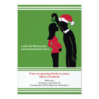 cartes de faire-part de grossesse de Noël 5x7 -