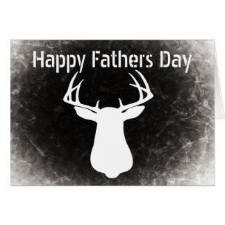 Cartes de fête des pères de chasse de cerfs