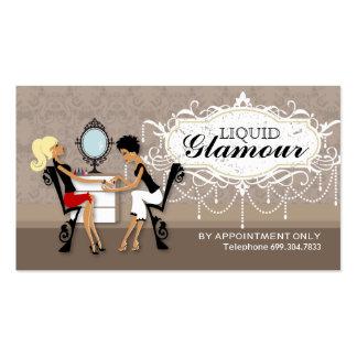 Cartes de fidélité de salon de clou carte de visite standard