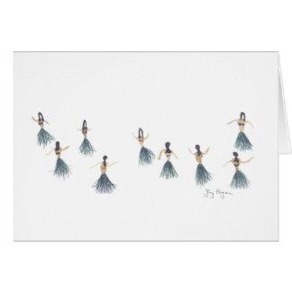 Cartes de filles de danse polynésienne