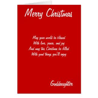 Cartes de filleule de Joyeux Noël