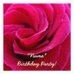 Cartes de fleur de rose de rose de fête d'annivers