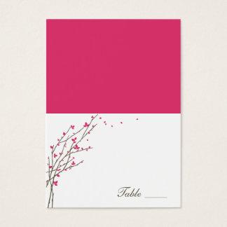 Cartes de floraison d'endroit pliées par branches