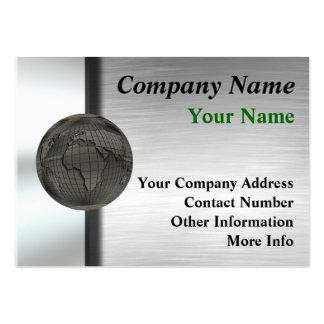 Cartes de grande entreprise du monde en métal carte de visite grand format