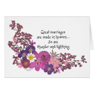 Cartes De grands mariages sont faits dans le ciel !