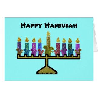 Cartes de Hannukah Menorah d'écureuils