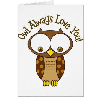 Cartes De hibou amour toujours vous