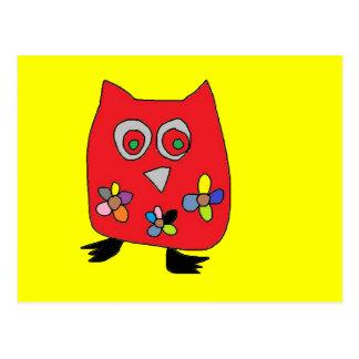 Cartes de hibou de volaille carte postale