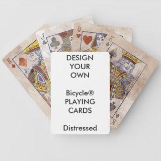 Cartes de jeu AFFLIGÉES par Bicycle® faites sur Jeu De Cartes