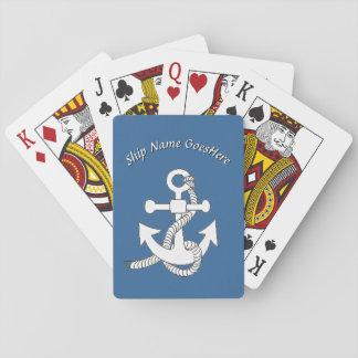 Cartes de jeu - ancre de bateau avec le nom jeu de cartes