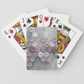 Cartes de jeu architecturales d'hexagones jeu de cartes