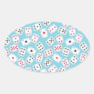 Cartes de jeu sticker ovale
