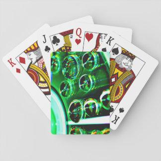 Cartes de jeu avec le dos d'image d'abrégé sur cartes à jouer