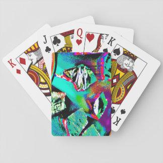Cartes de jeu avec l'image abstraite colorée cartes à jouer