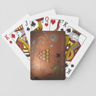 Cartes de jeu avec l'image africaine de graffiti cartes à jouer