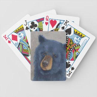 Cartes de jeu avec l'ours lunatique #1 jeu de poker
