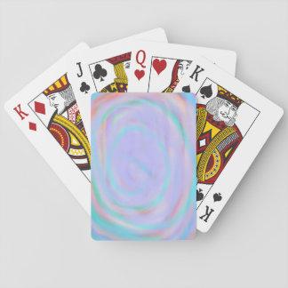 Cartes de jeu avec un motif de remous cartes à jouer