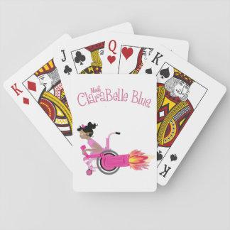 Cartes de jeu bleues de ClaraBelle Cartes À Jouer