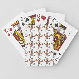 Cartes de jeu carrelées de papy jeu de cartes