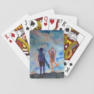 Cartes de jeu classiques d'art d'été de yoga de jeu de cartes