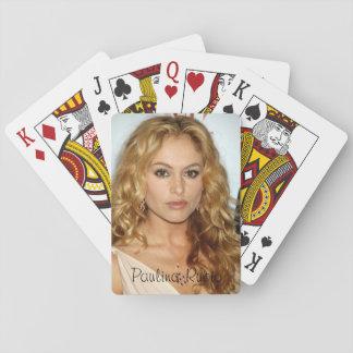 Cartes de jeu classiques de Paulina Rubio Jeux De Cartes