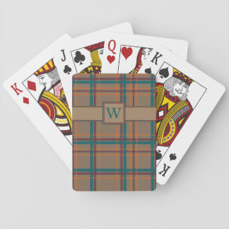 Cartes de jeu classiques de plaid chic d'automne cartes à jouer