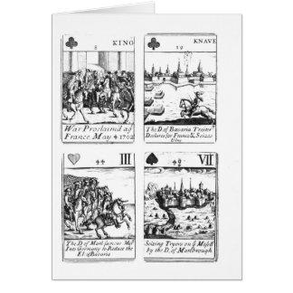 Cartes de jeu commémorant