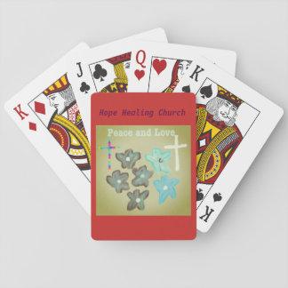 Cartes de jeu curatives d'amour de paix d'église jeu de cartes