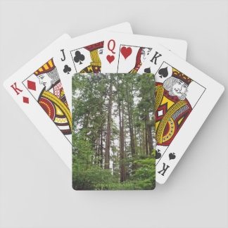 Cartes de jeu d'arbres grands cartes à jouer