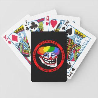 Cartes de jeu d'armée de clown de Clownsec ! Jeu De Poker