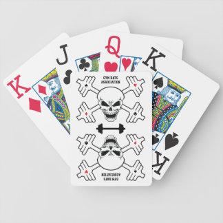 Cartes de jeu d'association de rats de gymnase jeux de cartes