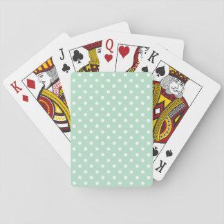 Cartes de jeu de base pointillées par polka verte  jeux de cartes