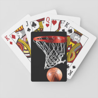 Cartes de jeu de basket-ball, visages standard jeu de cartes