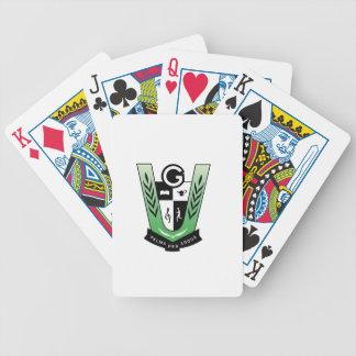 Cartes de jeu de bicyclette avec la crête de jeu de poker