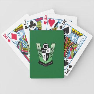 Cartes de jeu de bicyclette avec la crête de jeux de cartes
