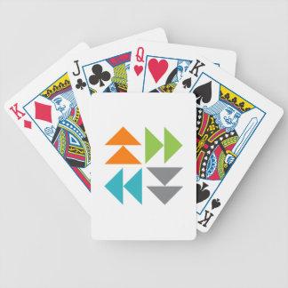 Cartes de jeu de bloc d'édredon d'oies de vol jeu de cartes